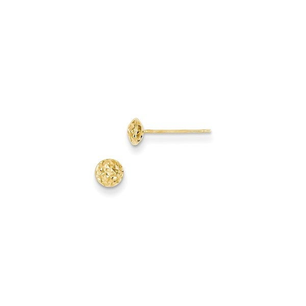 14 Karat Gold 5mm Circle Puff Post Earrings