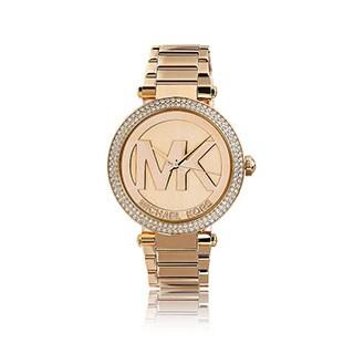 Michael Kors Women's 'Parker' Logo Dial Rosetone Watch