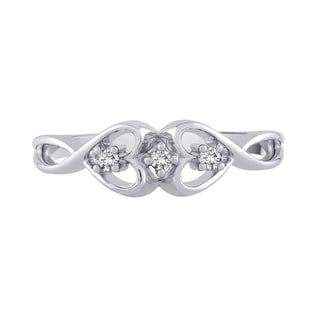 14K White Gold Diamond Promise Ring