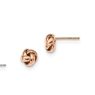 14 Karat Rose Gold Polished Love Knot Post Earrings