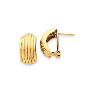 14 Karat Polished Fancy Omega Back Post Earrings