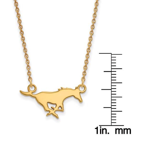 10K Yellow Gold Southern Methodist University X-Small Pendant by LogoArt