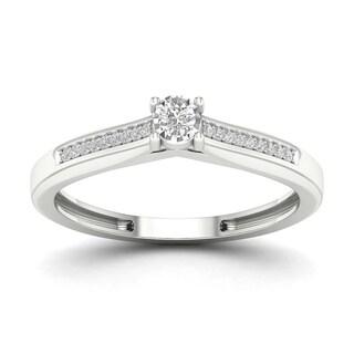 De Couer 1 10ct TDW Diamond Classic Ring White