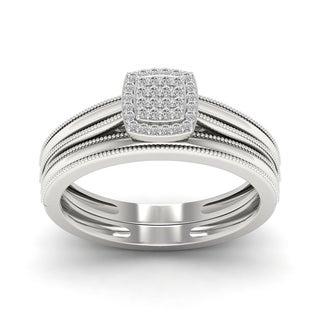 De Couer 1/10ct TDW Diamond Promise Ring - White