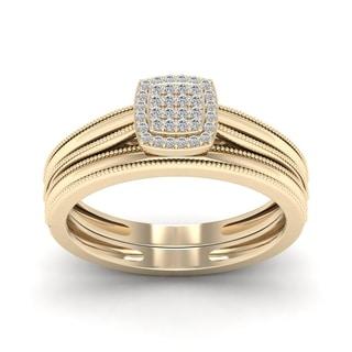 De Couer 1/10ct TDW Diamond Promise Ring - Yellow