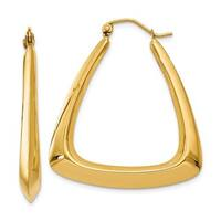 14 Karat Fancy Hoop Earrings