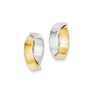 14 Karat Two-tone Polished Post Earrings