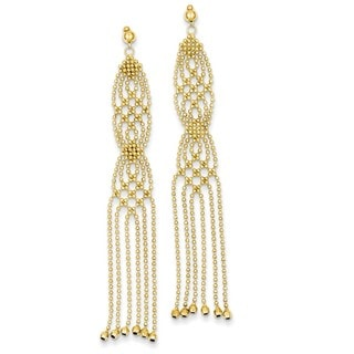 14 Karat Beaded Earrings