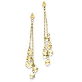 Versil 14 Karat Diamond-cut Heart Earrings