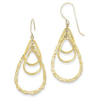 14 Karat Tear Drop Earrings