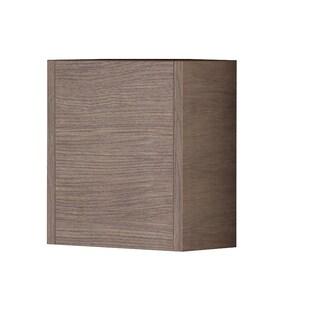 "Eviva Escorpio® 14"" Medium Oak Modern Bathroom Side Cabinet Wall Mount"