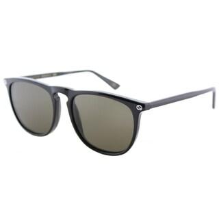 Gucci GG 0120S 001 Shiny Black Plastic Square Sunglasses Brown Lens