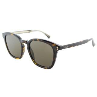 Gucci GG 0125S 002 Havana Plastic Square Sunglasses Brown Lens