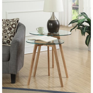 Convenience Concepts Clearview Nesting End Tables