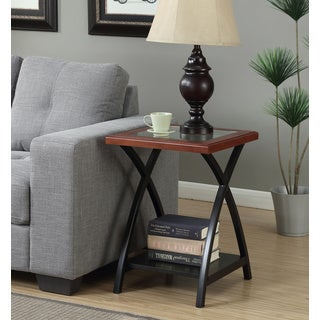 Convenience Concepts Lakeshore Black and Brown Transitional End Table