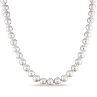 Catherine Catherine Malandrino Cultured Freshwater Pearl Strand Necklace with Sterling Silver Ball Clasp (8-9mm)