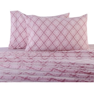 Diamond Lace Printed Microfleece Sheets