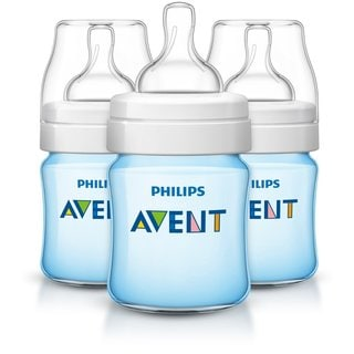 Philips Avent Blue 4-ounce Anti-Colic Baby Bottle (Pack of 3)