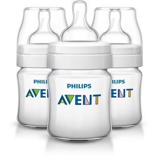 Philips Avent 4-ounce Anti-Colic Baby Bottle (Pack of 3)