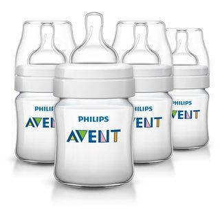 Philips Avent 4-ounce Anti-Colic Baby Bottle (Pack of 4)