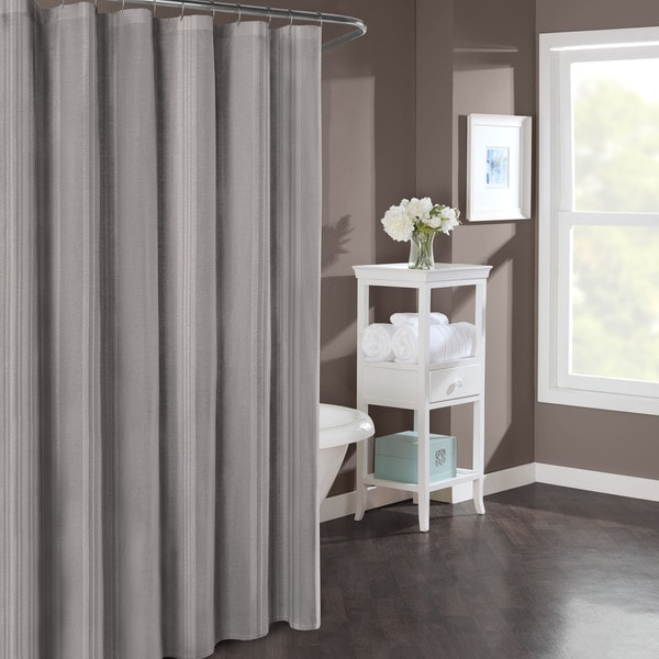 Stone Cottage Wamsutta Stripe Mink 54x78 Shower Curtain