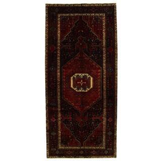 Herat Oriental Persian Hand-knotted Tribal Hamadan Wool Runner (5'5 x 12'2) - 5'5 x 12'2