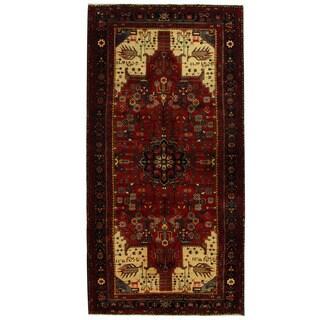 Herat Oriental Persian Hand-knotted Tribal Hamadan Wool Runner (5'8 x 11'4)
