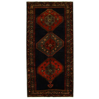 Herat Oriental Persian Hand-knotted Tribal Ardabil Wool Runner (5' x 10'3)