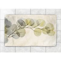 Laural Home Woven Smoky Eucalyptus Fronds Green Accent Rug