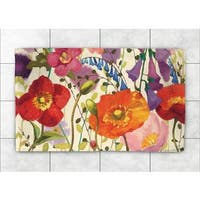 Laural Home Woven Pink Meadow Multi-Colored   Accent Rug (2'X3')