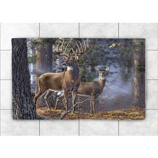 Laural Home Woven Majestic Deer Brown Accent Rug (2'X3')
