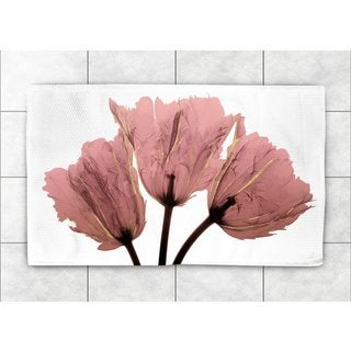 Laural Home Woven Blushing Tulips Pink Accent Rug (2'X3')