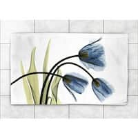 Laural Home Woven Blooming Tulip Trio Blue Accent Rug
