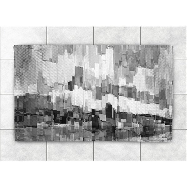 Shop Laural Home Black And White Brushstrokes Accent Rug Free