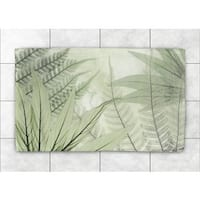 Laural Home Woven Tropical X-ray Ferns Green Accent Rug (4' x 6')