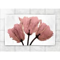 Laural Home Woven Blushing Tulips X-ray Pink Accent Rug (4 'x 6')