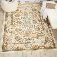 Nourison Cambria Cream Traditional Area Rug - 9'10 x 13'2