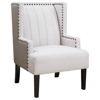 Living Room Wing Back Design Accent Chair with Nailhead Trim