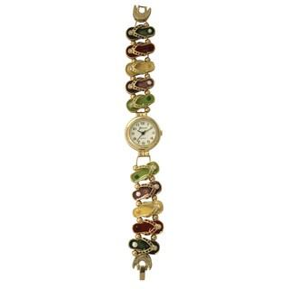 Oliva Pratt Women's Flip Flop Metal Bracelet Watch One Size