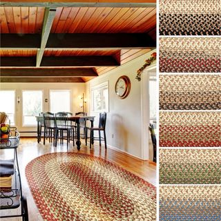 Ellsworth Indoor / Outdoor Reversible Braided Rug by Rhody Rug (3' x 5') - 3' x 5' (Option: Taupe)