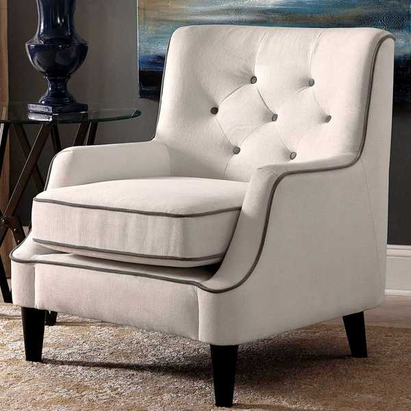 Shop Button Tufted Design Living Room Accent Chair with ...