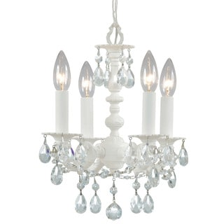 Crystorama Paris Market Collection 4-light Wet White Mini Chandelier