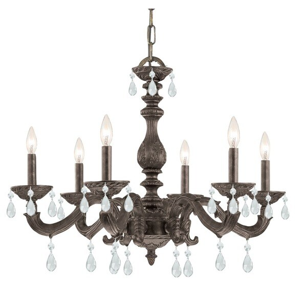 Crystorama Paris Market Collection 6-light Venetian Bronze/ Spectra Crystal Chandelier