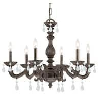 Crystorama Paris Market Collection 6-light Venetian Bronze/ Strass Crystal Chandelier