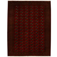 Handmade Herat Oriental Persian Tribal Turkoman Wool Rug (Iran) - 10'1 x 12'10