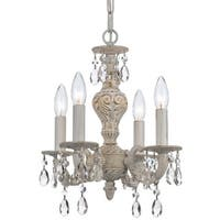 Crystorama Paris Market Collection 4-light Antique White/Swarovski Elements Spectra Crystal Mini Chandelier