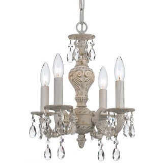 Crystorama Paris Market Collection 4-light Antique White/Swarovski Spectra Crystal Mini Chandelier