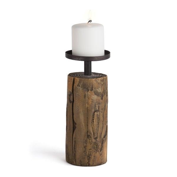 Danya B. Candleholder on Log