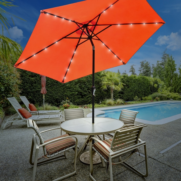 Sorbus Outdoor Umbrella, 10 Ft Patio Umbrella With Tilt Adjustment And  Crank Lift Handle (