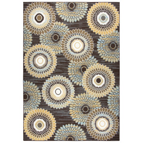 Xpression Brown Medallion Area Rug - 5'2 x 7'3
